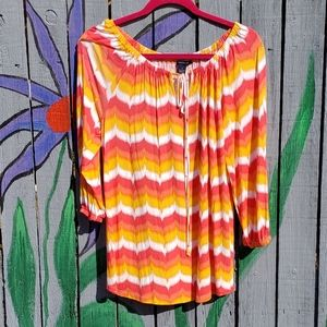 Westbound 100% Rayon Blouse Small
